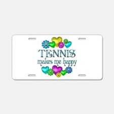 Tennis Happiness Aluminum License Plate