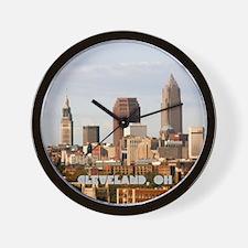 Unique Cleveland ohio Wall Clock