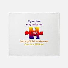 1 in Million (Self w Autism) Throw Blanket