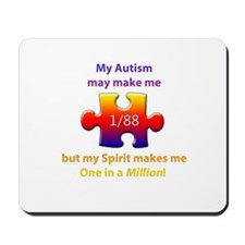 1 in Million (Self w Autism) Mousepad