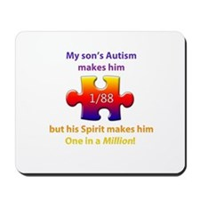 1 in Million (Son w Autism) Mousepad