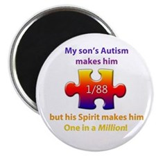 "1 in Million (Son w Autism) 2.25"" Magnet"