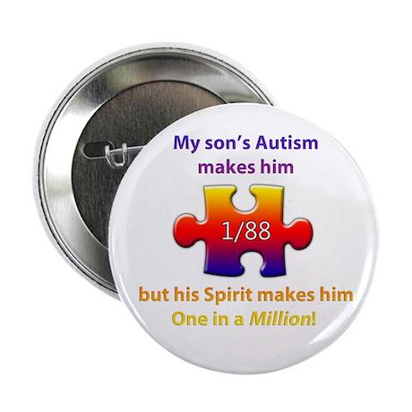 "1 in Million (Son w Autism) 2.25"" Button (10"