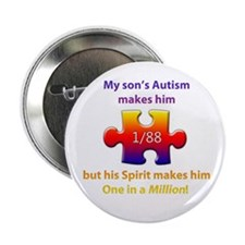 "1 in Million (Son w Autism) 2.25"" Button"