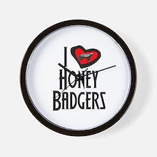 I Love Honey Badgers Wall Clock
