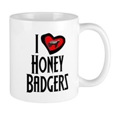I Love Honey Badgers Mug