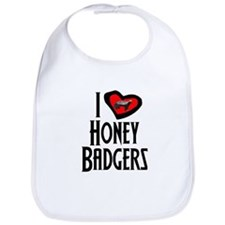 I Love Honey Badgers Bib