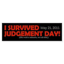 I Survived Judgement Day 2011 Bumper Sticker