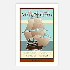 Travel Massachusetts Postcards (Package of 8)