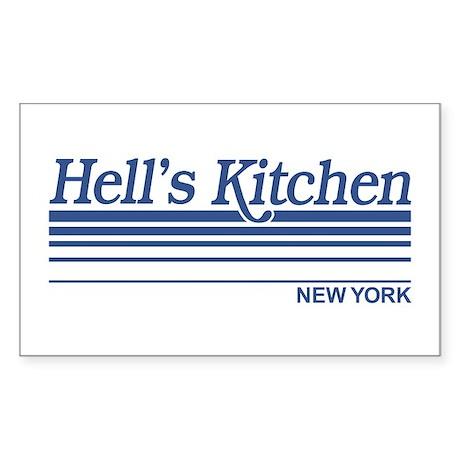 Hell's Kitchen New York Rectangle Sticker