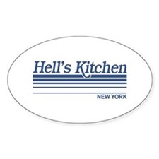 Hell's Kitchen New York Oval Decal