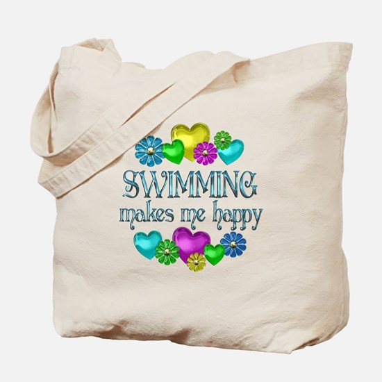 Swimming Happiness Tote Bag