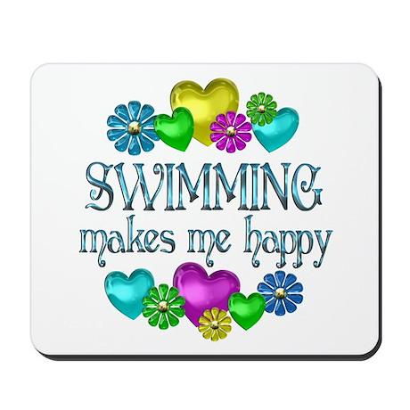 Swimming Happiness Mousepad