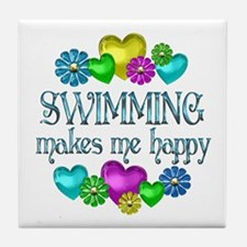 Swimming Happiness Tile Coaster