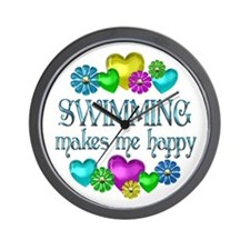 Swimming Happiness Wall Clock
