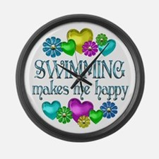 Swimming Happiness Large Wall Clock