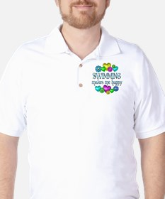 Swimming Happiness Golf Shirt