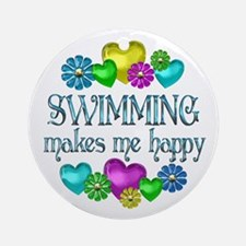 Swimming Happiness Ornament (Round)