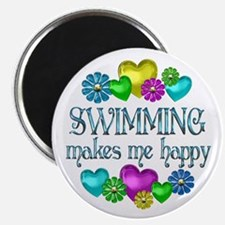"""Swimming Happiness 2.25"""" Magnet (10 pack)"""