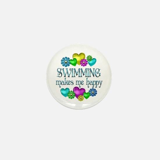 Swimming Happiness Mini Button