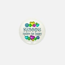 Swimming Happiness Mini Button (10 pack)