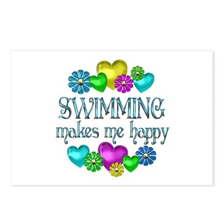 Swimming Happiness Postcards (Package of 8)