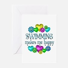 Swimming Happiness Greeting Cards (Pk of 20)