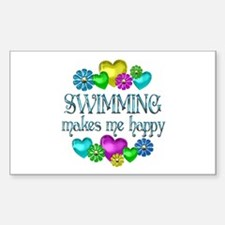 Swimming Happiness Decal