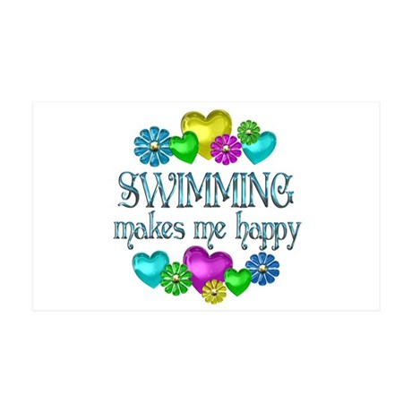 Swimming Happiness 38.5 x 24.5 Wall Peel