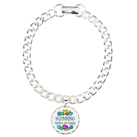 Swimming Happiness Charm Bracelet, One Charm