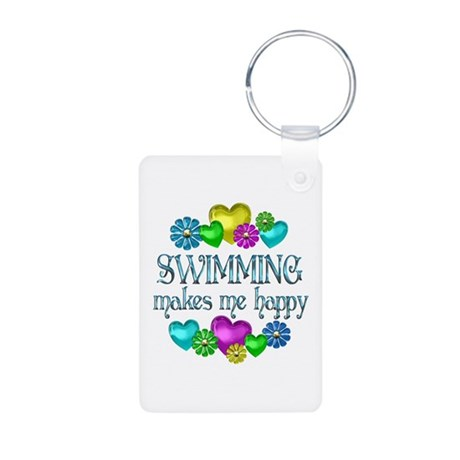 Swimming Happiness Aluminum Photo Keychain