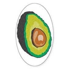 Avocado Oval Decal