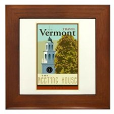 Travel Vermont Framed Tile