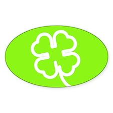 Lucky Shamrock Symbol Oval Decal