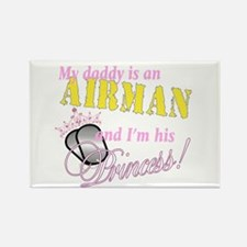 Airman's Princess Rectangle Magnet
