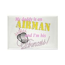 Airman's Princess Rectangle Magnet (100 pack)