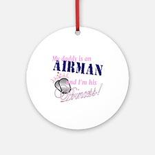 Airman's Princess Ornament (Round)