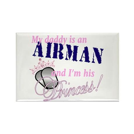 Airman's Princess Rectangle Magnet (10 pack)