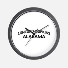 Concord-Hopkins Alabama Wall Clock