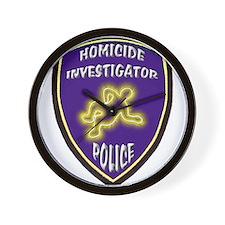 Police Homicide Investigator Wall Clock