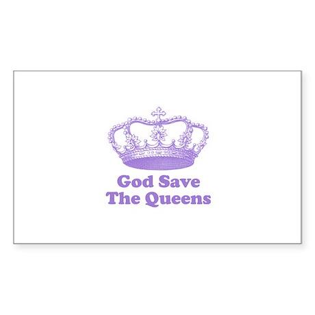 god save the queens (mauve) Sticker (Rectangle)