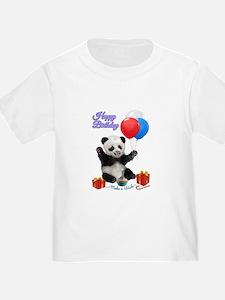 Panda's Happy Birthday Wish T-Shirt