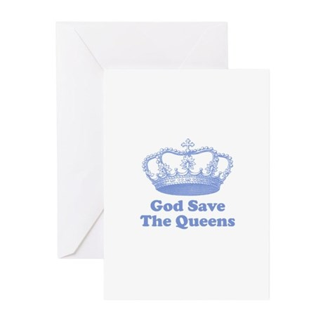 god save the queens (cornflow Greeting Cards (Pk o