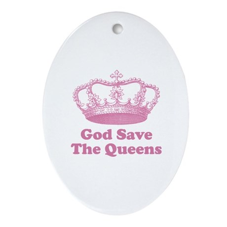 god save the queens (rose pin Ornament (Oval)