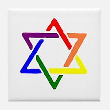 Queer Jews Tile Coaster