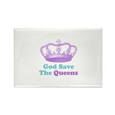god save the queens (purple/t Rectangle Magnet