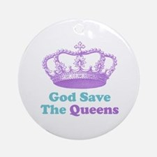 god save the queens (purple/t Ornament (Round)