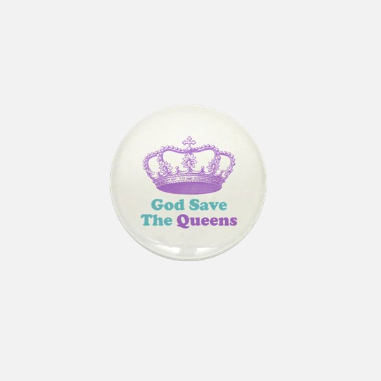 god save the queens (purple/t Mini Button (100 pac