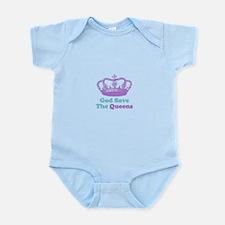 god save the queens (purple/t Infant Bodysuit