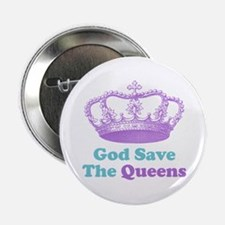 """god save the queens (purple/t 2.25"""" Button"""